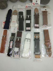 【送料無料】腕時計 ミックスストラップウォッチlot of 11 mix large watch straps 24mm 28mm 22mm nos