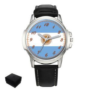 【送料無料】腕時計 アルゼンチンメンズフラグイーグルテニアンargentina argentinian flag eagle gents mens wrist watch gift engraving