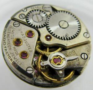 【送料無料】腕時計 パーツlady movado 75 17 jewels movement for part