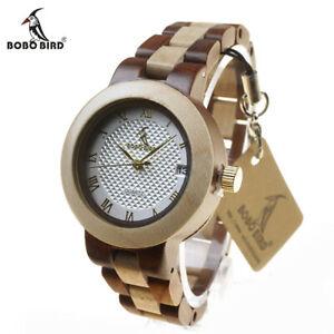 【送料無料】腕時計 ボボデザイナーボックスクリスマスbobo bird designer wooden quartz watch xmas gifts for her wife women in gift box