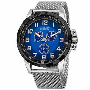 【送料無料】腕時計 #シュタイナースモールセコンドタキメータースチールメッシュウォッチmen039;s august steiner as8202ssbu small seconds date tachymeter steel mesh watch