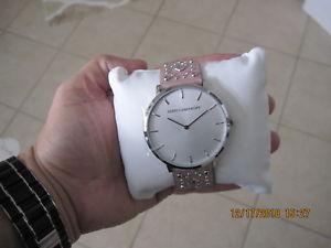 【送料無料】腕時計 レベッカピンクレザーブレスレットシルバーケース rebecca mink pink leather bracelet silver case women watch