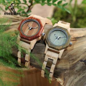 【送料無料】腕時計 ボボボックスクリスマスbobo bird exquisite watch creative design xmas gifts for her wife women wood box