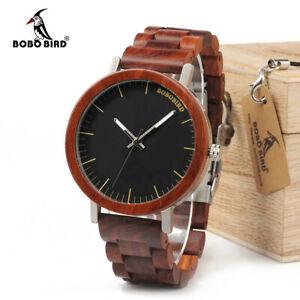 【送料無料】腕時計 ボボデザインローズウッドカジュアルクリスマスbobo bird luxury design rose wooden watch casual xmas gifts for him men male