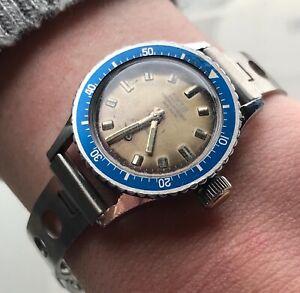 【送料無料】腕時計 サブマニュアルダイバーウォッチビンテージorologio sub carica manuale vintage da donna diver watch sincron