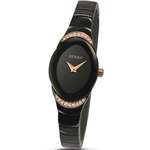 【送料無料】腕時計 アナログレディースファッションクラシックストラップウォッチseksy womens fashion analogue classic quartz watch with brass strap 2298