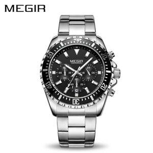 【送料無料】腕時計 ビジネスクォーツステンレススチールクリスマスmegir luxury business quartz watch men stainless steel xmas gifts for him father