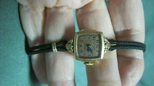 【送料無料】腕時計 ゴールドビンテージウォルサムプレミアローズvintage waltham premier rose cloroed 10k gold filled wrist watch