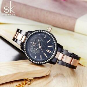 【送料無料】腕時計 ファッションブランドクオーツステンレススチールレディースsk fashion brand quartz stainless steel watch ladies womens, water resistant