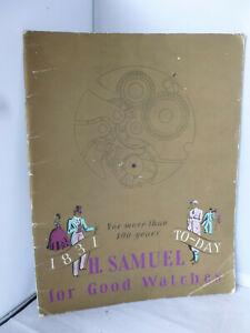 【送料無料】腕時計 サミュエルウォッチカタログイラストh samuel watch catalogue 1831 today more than 100 years illustrated c1935
