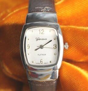 【送料無料】腕時計 ビンテージジュネーブプラチナクォーツレディースブレスレットvintage geneva platinum 8752 quartz ladies bracelet watch free shipping