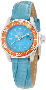 【送料無料】腕時計 ダイバーミニターコイズレザーウォッチ womens invicta 11714 pro diver mini turquoise leather watch