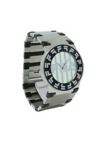 【送料無料】腕時計 バロッコフィララウンドステンレススチールブラックシルバーストーンウォッチ