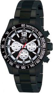 【送料無料】腕時計 メンズクロノグラフブラックスチールブレスレットダイバーズ