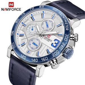 【送料無料】腕時計 ブランドクォーツファッションカジュアルスポーツウォッチluxury brand blue watches men fashion leather quartz casual sports gifts for him