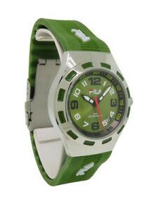 【送料無料】腕時計 プリマベーララウンドオリーブアナログシリコンウォッチfila fa074985 primavera womens round olive analog date silicone watch