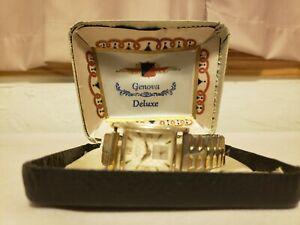【送料無料】腕時計 ビンテージアンティークケースジェノバデラックススイスrare vintage antique genova deluxe swiss made watch in case nn