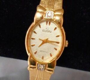 【送料無料】腕時計 エルギンゴールドレディースレディースドレスカジュアルelgin gold bedazzle ladies womens dress or casual watch wristwatch never worn