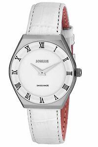 【送料無料】腕時計 メンズコスタステンレススチールホワイトレザーローマウォッチjowissa mens j4080l costa stainless steel white leather roman numeral watch