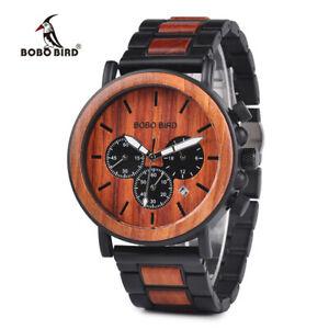 【送料無料】腕時計 ボボトップブランドスタイリッシュクロノグラフbobo bird wooden men watches top brand luxury stylish chronograph military gifts