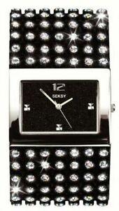 【送料無料】腕時計 レディースブラッククリスタルウォッチ