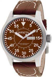 【送料無料】腕時計 メンズブラウンレザーストラップウォッチ mens invicta 11185 specialty brown leather strap watch