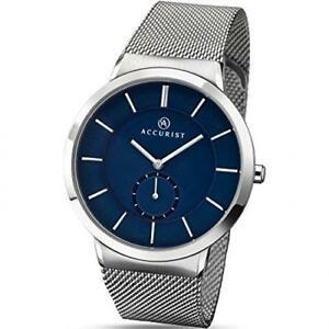 【送料無料】腕時計 メンズクラシックステンレススチールウォッチaccurist 7014 mens classic minimal stainless steel watch rrp 8999