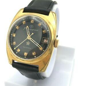 【送料無料】腕時計 ヴォストークソソvintage vostok komandirskie ussr gold plated watch soviet date serviced military