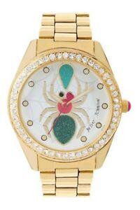【送料無料】腕時計 ジョンソンクモブレスレットウォッチ betsey johnson spider crystal bracelet watch bj0024963
