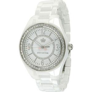 【送料無料】腕時計 ジューシークチュールパウダーホワイトセラミックブレスレットjuicy couture womens 1900642 lively powder white ceramic bracelet watch