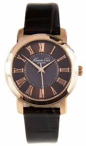 【送料無料】腕時計 ケネスニューヨークアナログブラウンレザーウォッチストラップkenneth cole york 10022551 womens analog watch brown leather strap