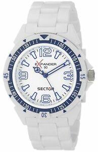 【送料無料】腕時計 セクターエクスパンダメンズアナログクォーツプラスチック sector r3251197012 expander 90 mens analog quartz watch white plastic