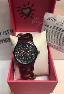 【送料無料】腕時計 ジョンソンチェーンリンクbetsey johnson womens 38mm glitter translucent chain link watch bj0063804