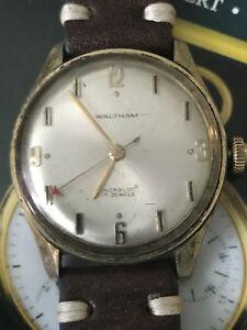 【送料無料】腕時計 ビンテージウォルサムストラップvintage waltham men wrist watch 36mm working red second hand  strap