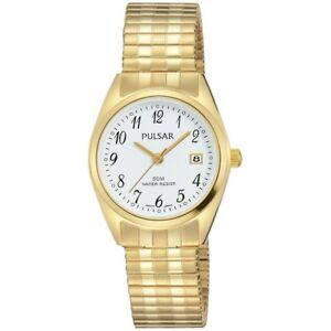 【送料無料】腕時計 パルサーレディースpulsar ladies gold plated watch ph7444x1