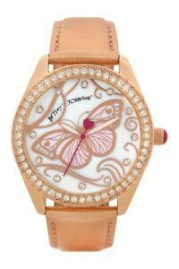 【送料無料】腕時計 ジョンソンバタフライゴールドストラップクリスタルウォッチ betsey johnson butterfly gold strap crystal watch bj00048245
