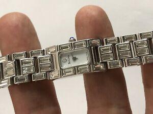 【送料無料】腕時計 クリアドレススチールウォッチladies bulova clear crystals dress steel watch