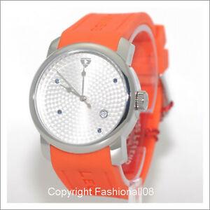 【送料無料】腕時計 スイスメンズプランオレンジシリコンストラップタイマーウォッチswiss legend mens planetimer date orange silicone strap watch sl2002802sorg