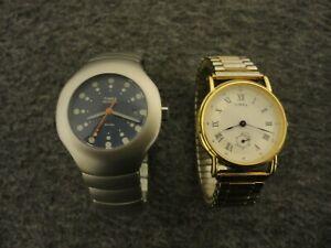 【送料無料】腕時計 ヴィンテージレディースクォーツtimex set of 2 womens vintage quartz watches j5 amp; 47 excellent  w batts