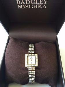 【送料無料】腕時計 badgley mischka ba 1366 mpgb crystal