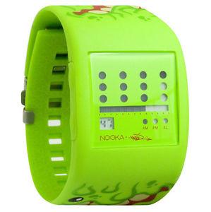 【送料無料】腕時計 ライムグリーンズスリムボールデジタルnooka lime green zub zot mad l toys sqwert slimeball 38mm digital lcd watch nib