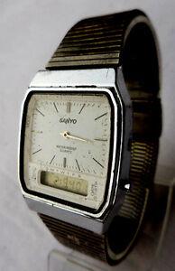 【送料無料】腕時計 サンヨーマルチアラームクロノワークancienne montre sanyo multifonction alarme dateur et chrono reviser