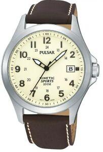 【送料無料】腕時計 パルサーレザーストラップウォッチパーpulsar gents kinetic leather strap watch par167x1