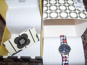 【送料無料】腕時計 フラワーデザインストレッチウォッチ orla kiely flower design stretch watch