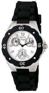 【送料無料】腕時計 クロノグラフブラックポリウレタンウォッチ
