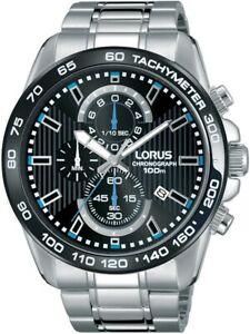 【送料無料】腕時計 クロノグラフブレスレットlorus gents chronograph bracelet watch rm377cx9