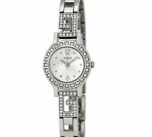 【送料無料】腕時計 ダーリングシルバーストーンスワロフスキークリスタルアクセントguess 21mm womens darling silver tone w swarovski crystal accent watchw 0411l1