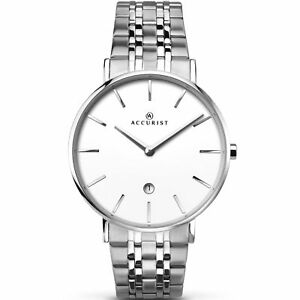 【送料無料】腕時計 ステンレススチールグリースaccurist gents stainless steel watch 7129