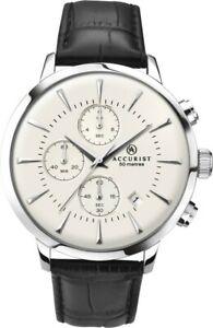 【送料無料】腕時計 メンズクラシックレザーストラップウォッチneues angebotaccurist mens classic leather strap watch 7033 rrp 11999