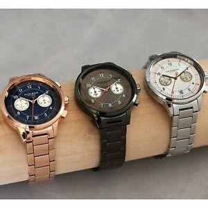 【送料無料】腕時計 メンズクロノグラフデュアルタイムステンレススチールブレスレットmens akribos xxiv ak1071 chronograph dual time stainless steel bracelet watch